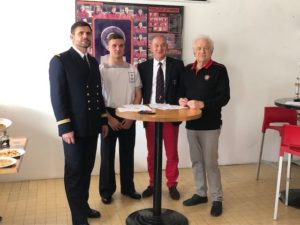 Signature Convention Marine Nationale et RCT Association