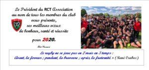 Le Rugby Club Toulonnais Association vous souhaite une bonne année 2020