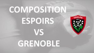 Composition de notre equipe Espoirs contre Grenoble